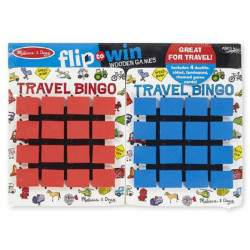 Flip to Win Melissa & Doug Travel Bingo de Madeira