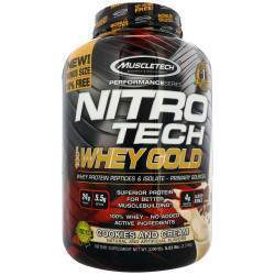 Muscletech Nitro Tech Whey Gold Cookies and Cream 2.51kg