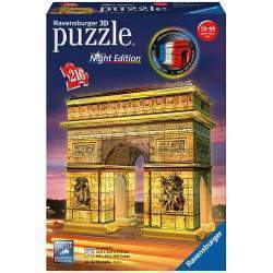 Quebra cabeça Ravensburger Puzzle 3D Arco do Triunfo Night Edition (216pcs)