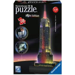 Quebra cabeça Ravensburger Puzzle 3D LED Empire State Building Night Edition (216pcs)