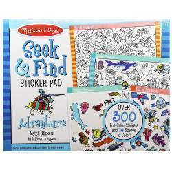 Sticker Reutilizável Melissa & Doug Pad Adventure - 30151 (300 Stickers - 14 Scenes)
