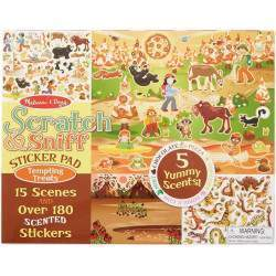 Sticker Reutilizável Melissa & Doug Pad Tempting Treats - 2199 (180 Stickers - 15 Scenes)