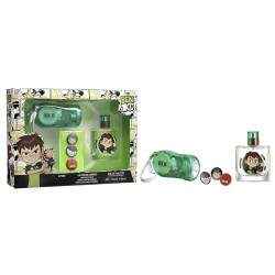 Kit Perfume Cartoon Network Ben 10 EDT 50mL + Lanterna + 3 Pins - Infantil