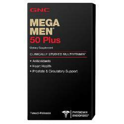 Multivitamínico GNC Mega Men 50 Plus 60 Cap