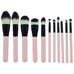 Kit Pincel Makeup Brush Make T-11-021 - Rosa (11 Peças)