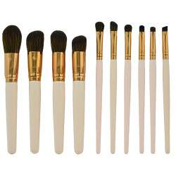 Kit Pincel Makeup Brush Make T-10-160 - Rosa (10 Peças)