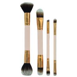 Kit Pincel Makeup Brush Make T-04-026 - Rosa (4 Peças)