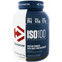 Dymatize Suplemento ISO100 Hydrolyzed Cookies & Cream (1.36kg)