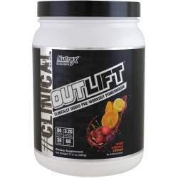 Nutrex Research Clinical Edge Outlif Pre-Workout Powerhouse Wild Cherry Citrus-17.8 oz (50