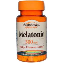 Sundown Melatonin Helps 300MCG 120 Comp.