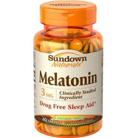 Sundown Naturals Melatonin Drug Free 3MG 60 Comp.