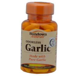 Sundown Naturals Odorless Garlic 1000 Mg 100 Cápsulas