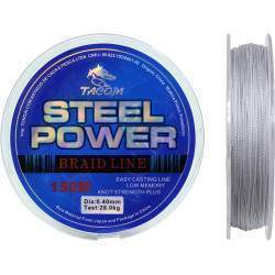 Linha Multifilamento Tacom Steel Power 150M 0.40mm 28.0kg