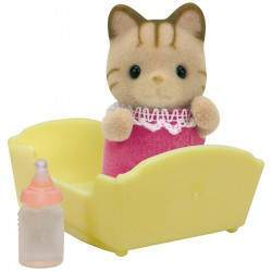 Epoch Sylvanian Families - Striped Cat Baby - 5186