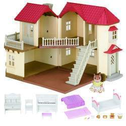 Epoch Sylvanian Families - City House With Lights Gift Set - 3646