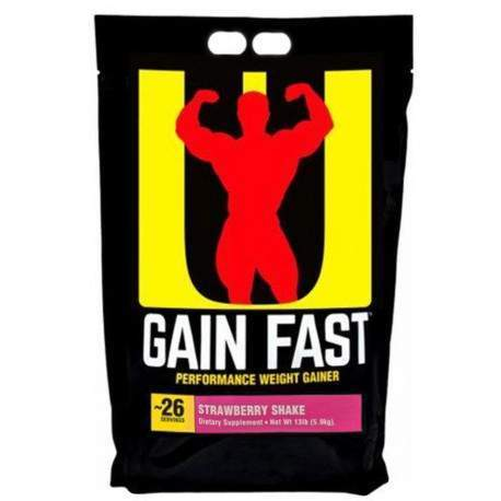Universal Nutrition Gain Fast Strawberry Shake - 13lb (5.9kg)